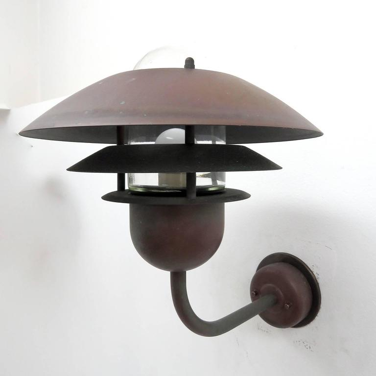 Pair of Scandinavian Outdoor Wall Lights by Horn 3