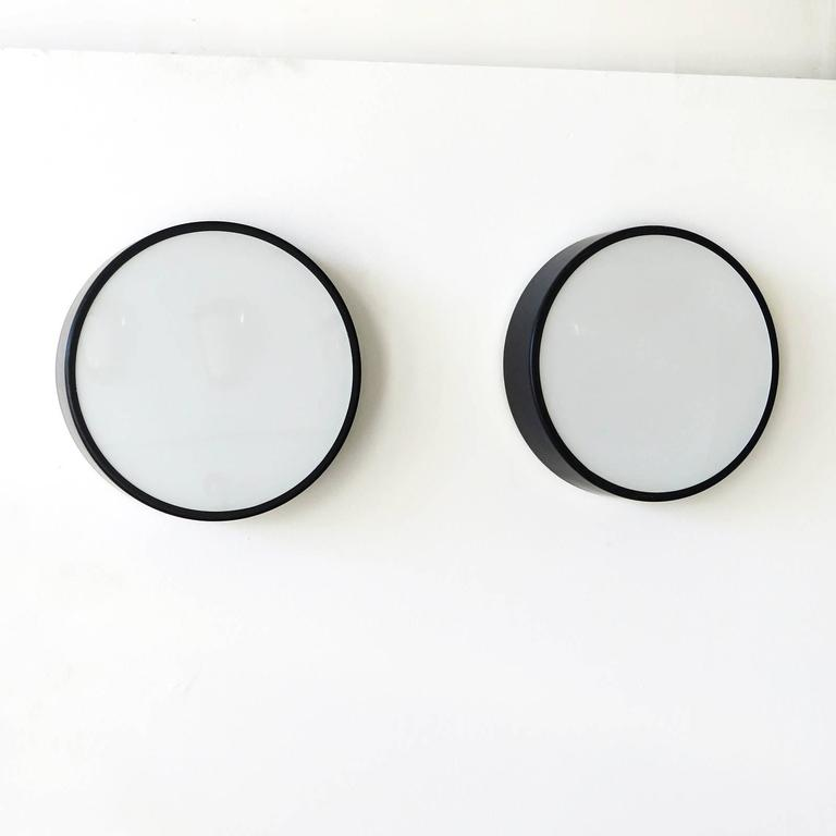 Scandinavian Modern Lyfa Flush Mount Lights, 1972 For Sale