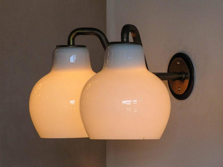 Pair of Vilhelm Lauritzen Double Wall Lights 9