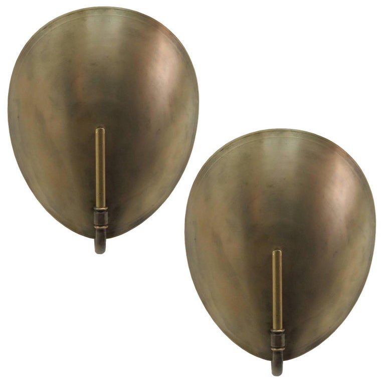 Brass Shell Wall Lights : Brass Shell Wall Lights For Sale at 1stdibs