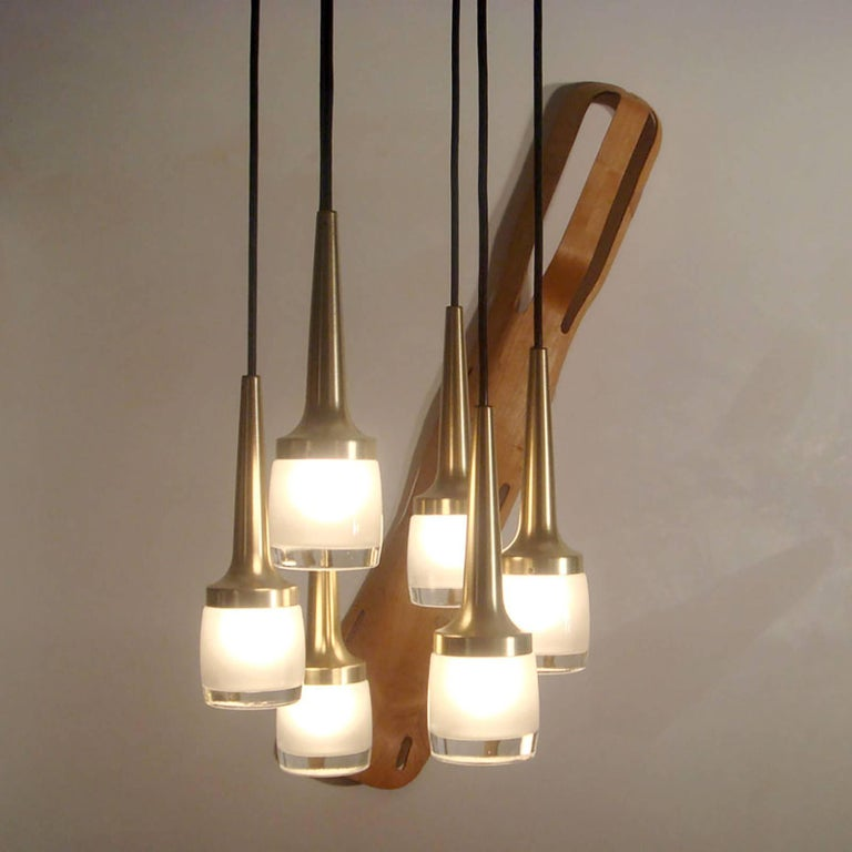 Six-Light Hanging Fixture by Staff of Germany 6