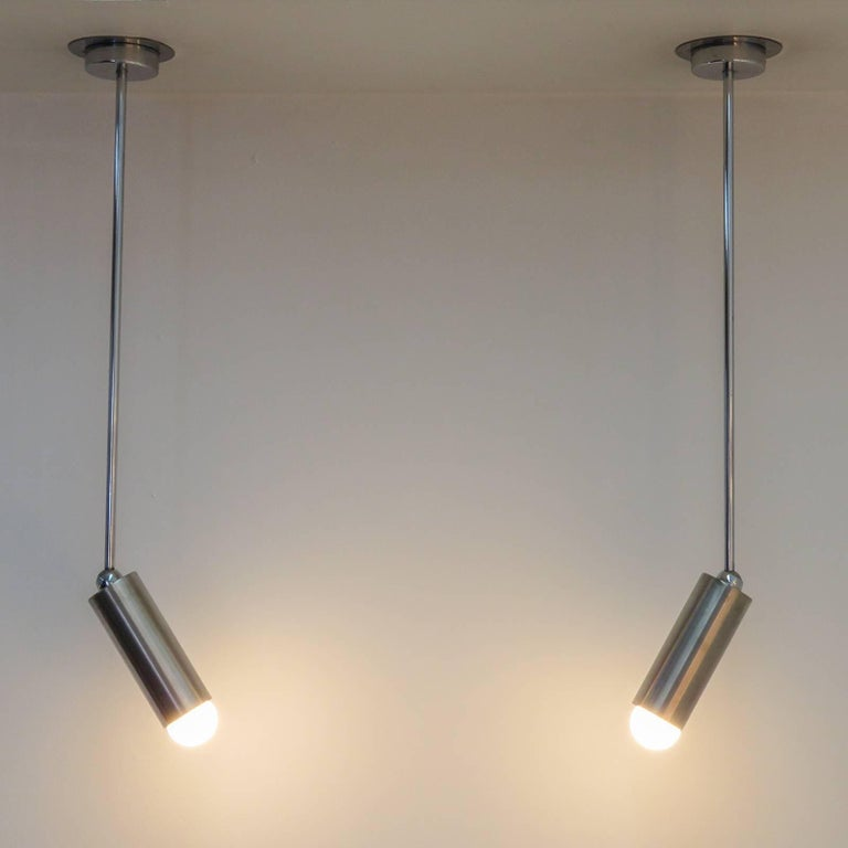 Pair of French Longstem Lights by Parscot For Sale 2