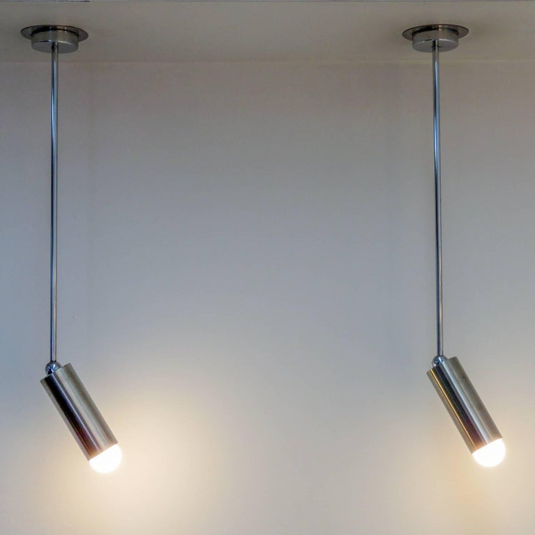 Pair of French Longstem Lights by Parscot 8