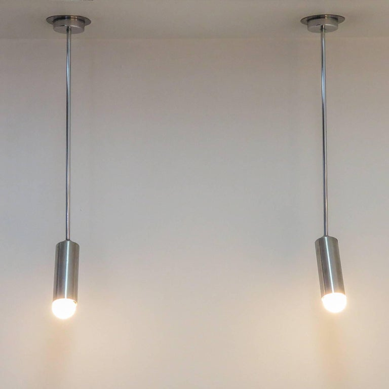 Pair of French Longstem Lights by Parscot For Sale 3