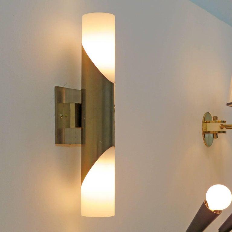 Brass Pair of Wall Lights by Neuhaus Leuchten For Sale