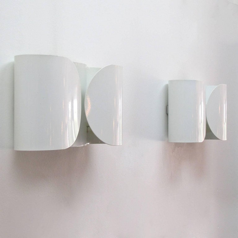 Italian Tobia Scarpa, Foglio, Wall Lights For Sale