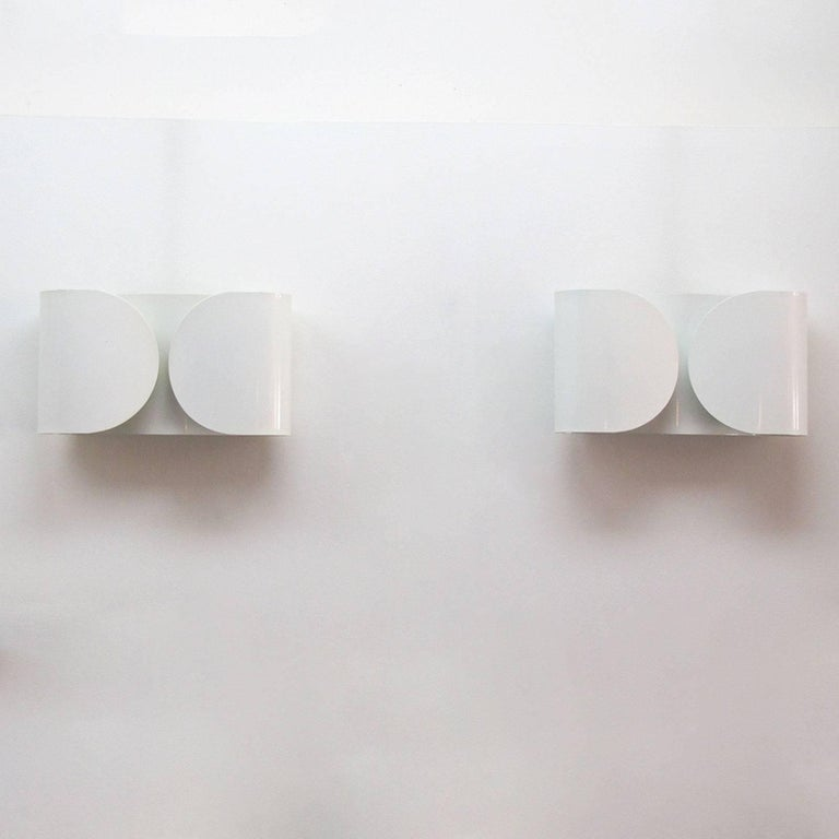 Enameled Tobia Scarpa, Foglio, Wall Lights For Sale