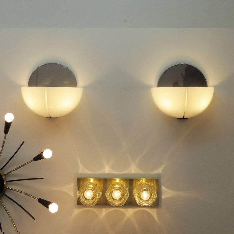 No Earth On Wall Lights : Pair of Stilnovo Wall Lights at 1stdibs