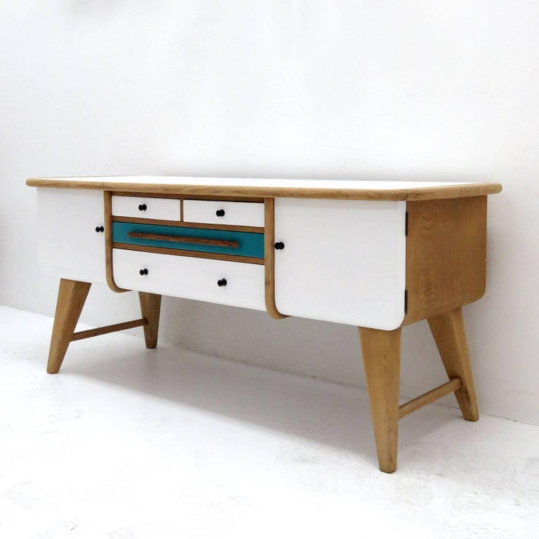 Low Swedish Sideboard, 1940s 3