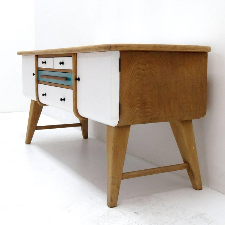 Low Swedish Sideboard, 1940s 4