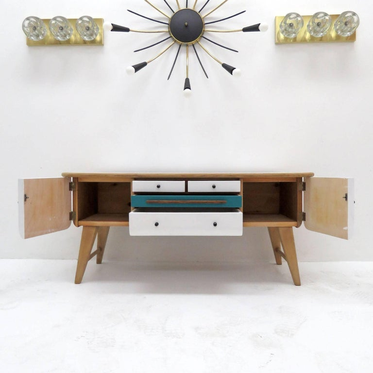 Low Swedish Sideboard, 1940s 9