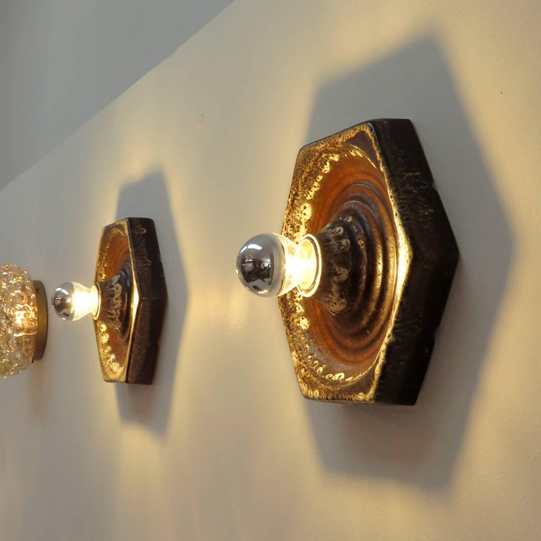 German Ceramic Wall Lights, 1960 For Sale at 1stdibs