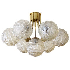 German Atomic Flush Mount Chandelier