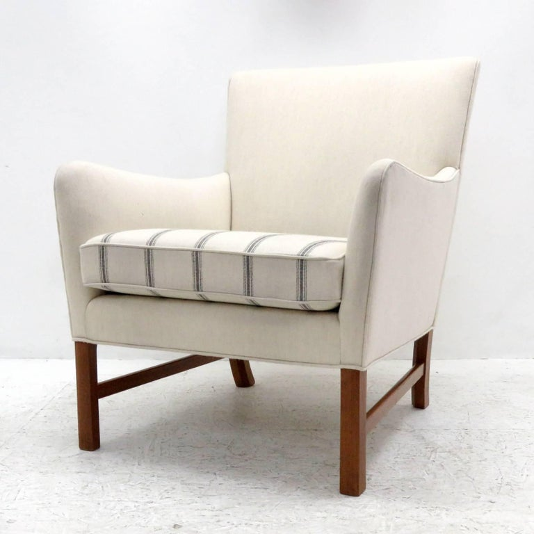 Scandinavian Modern Ole Wanscher Lounge Chair, 1960 For Sale