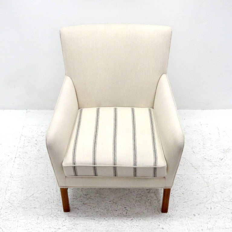 Wool Ole Wanscher Lounge Chair, 1960 For Sale