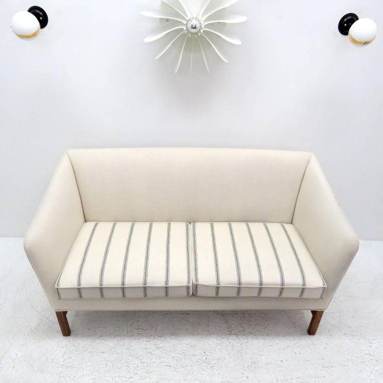 Wool Ole Wanscher Settee, 1960 For Sale