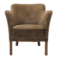 Mohair Club Chair 'Model 1146' by Fritz Hansen, 1940