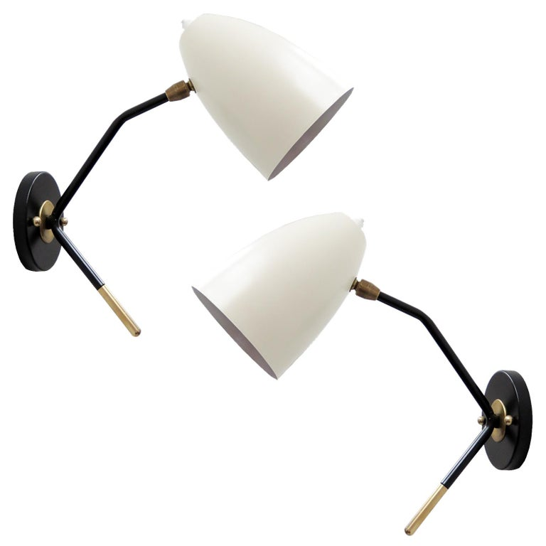 Brass Wall Lights 'L3GG' For Sale