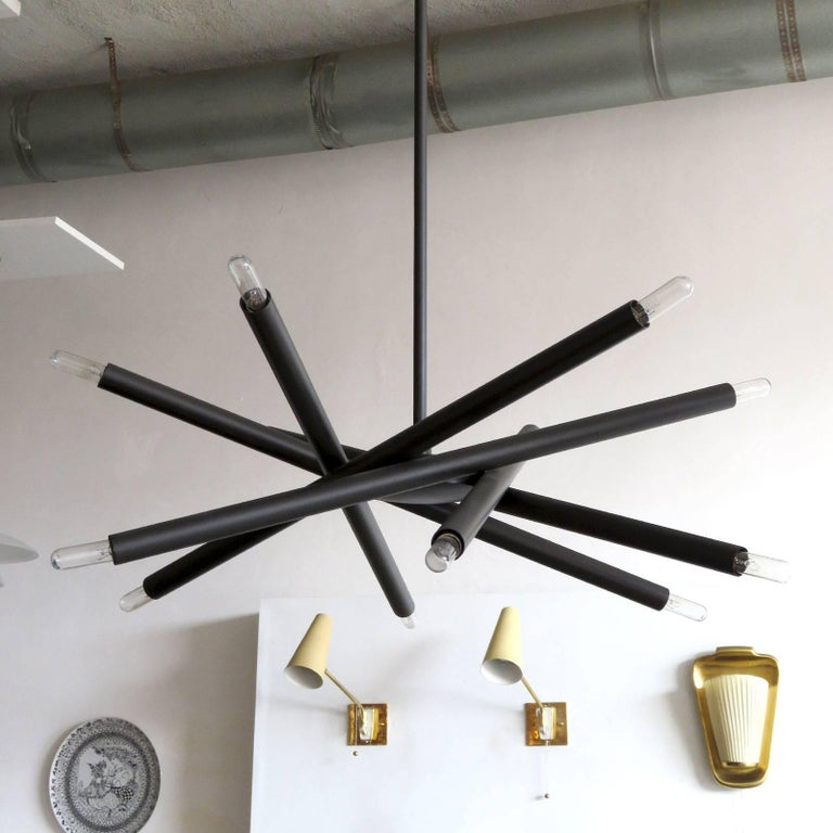 American Spiral ML-6 Orb Chandelier For Sale