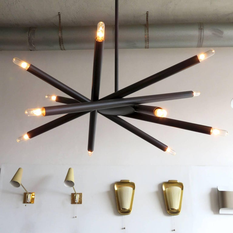 Contemporary Spiral ML-6 Orb Chandelier For Sale