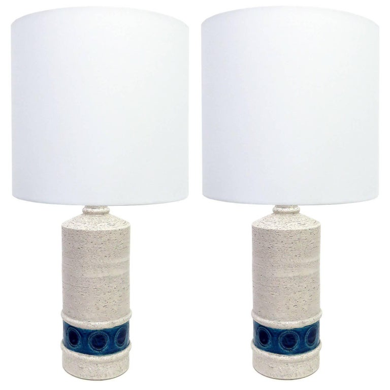 Pair of Bitossi Table Lamps for Bergboms