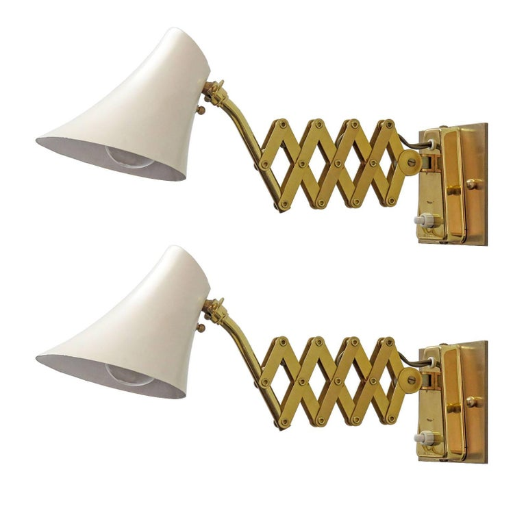 French Scissor Wall Lamps
