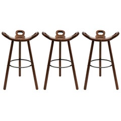 "Brutalist ""Marbella"" Bar Stools by Confonorm, 1970"