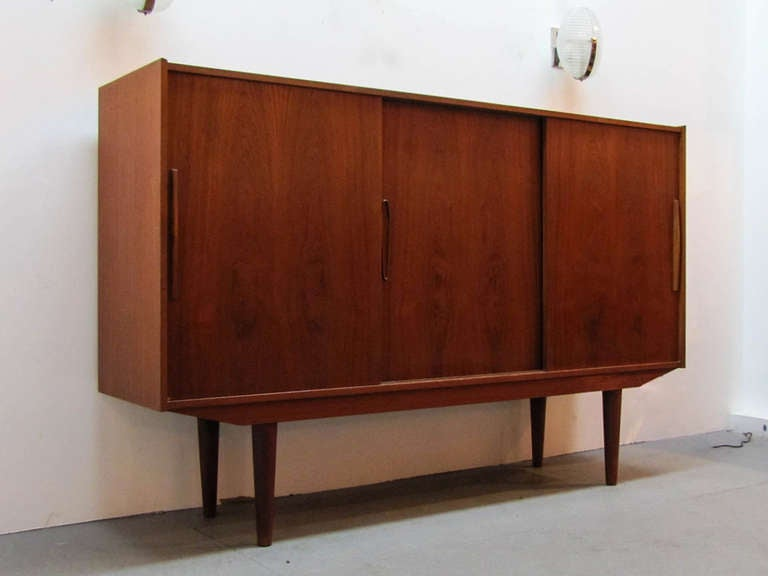Mid-Century Modern Swedish Teak Credenza by Royal Board For Sale