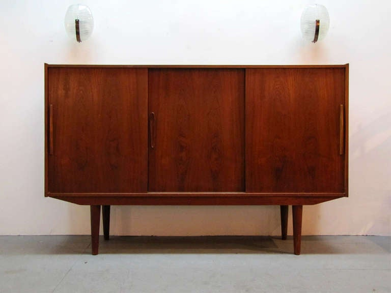 Swedish Teak Credenza by Royal Board In Excellent Condition For Sale In Los Angeles, CA