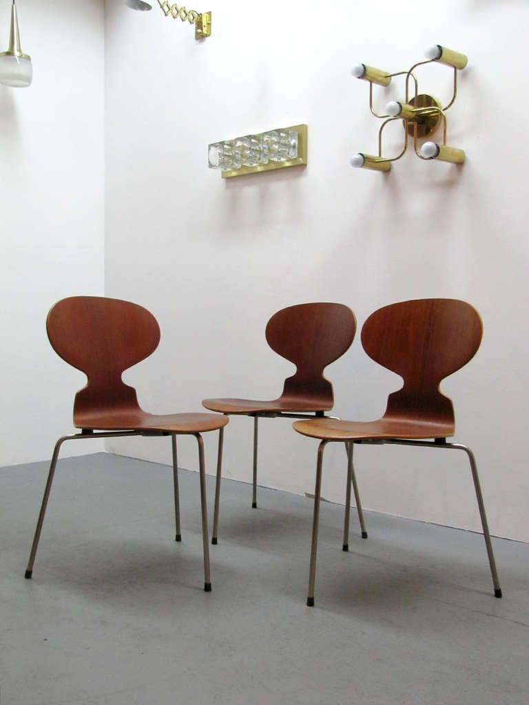Arne Jacobsen Ant Chairs For Sale 3
