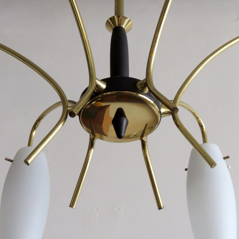 Mid-20th Century German Six-Light Chandelier, 1950 For Sale