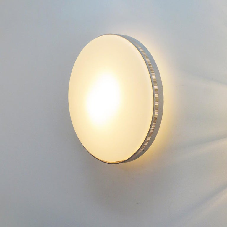 Metal Flush Mount Light by Kaiser Leuchten For Sale