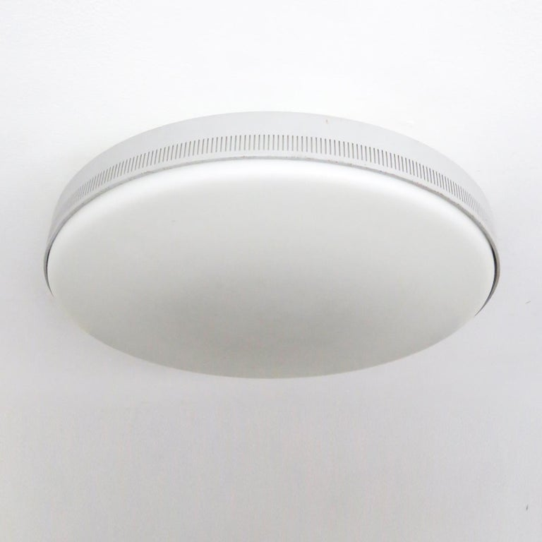 Enameled Flush Mount Light by Kaiser Leuchten For Sale