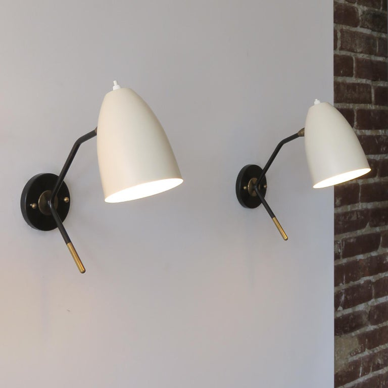 Contemporary Brass Wall Lights 'L3GG' For Sale