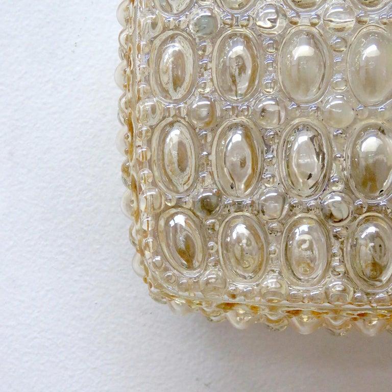 Mid-20th Century Pair of Art Glass Wall Lights by Glashütte Limburg For Sale
