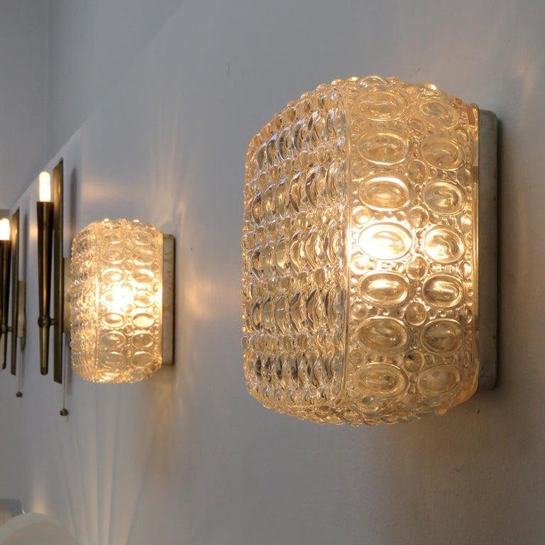 Pair of Art Glass Wall Lights by Glashütte Limburg For Sale 3