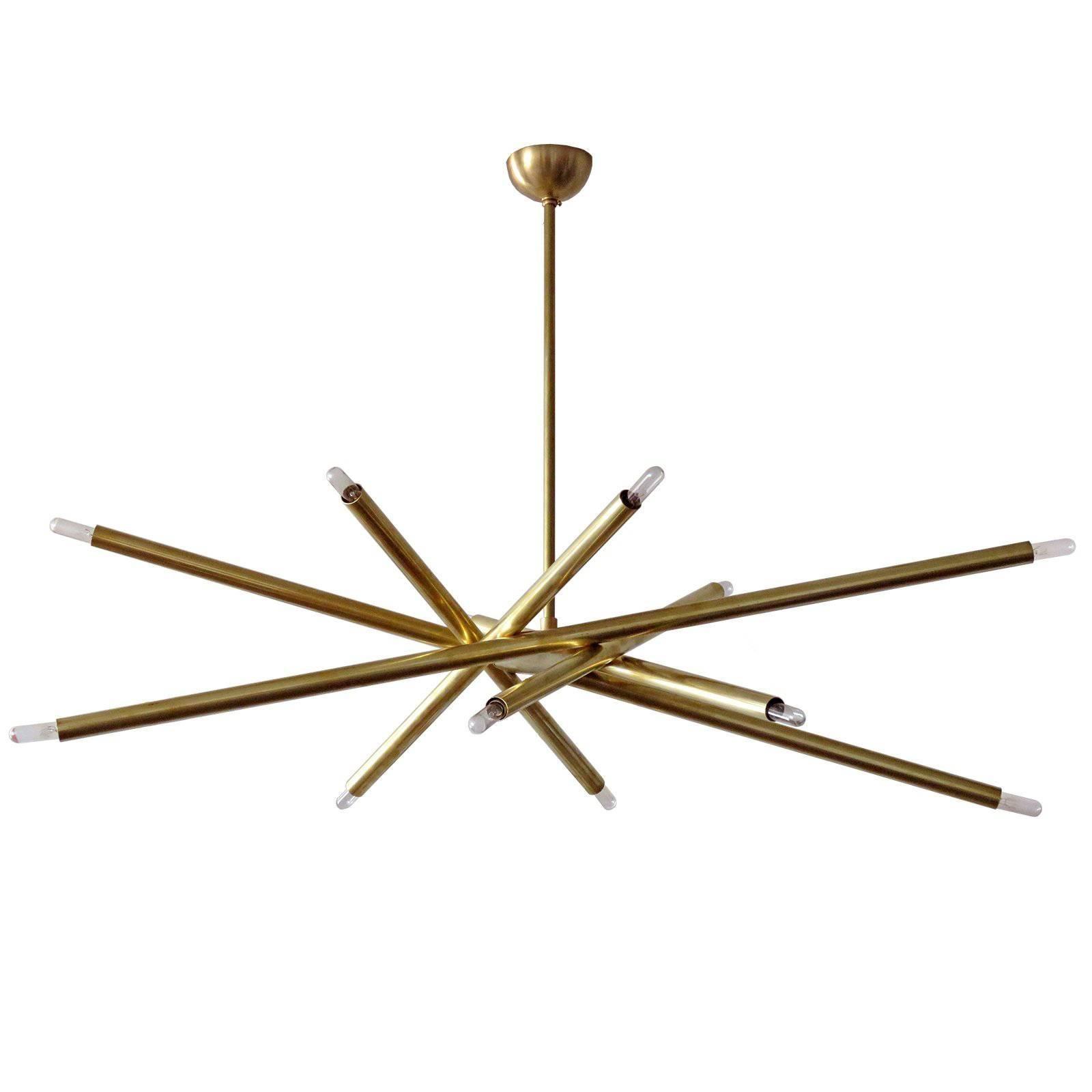 Brass Spiral VL-6 Chandelier by Gallery L7