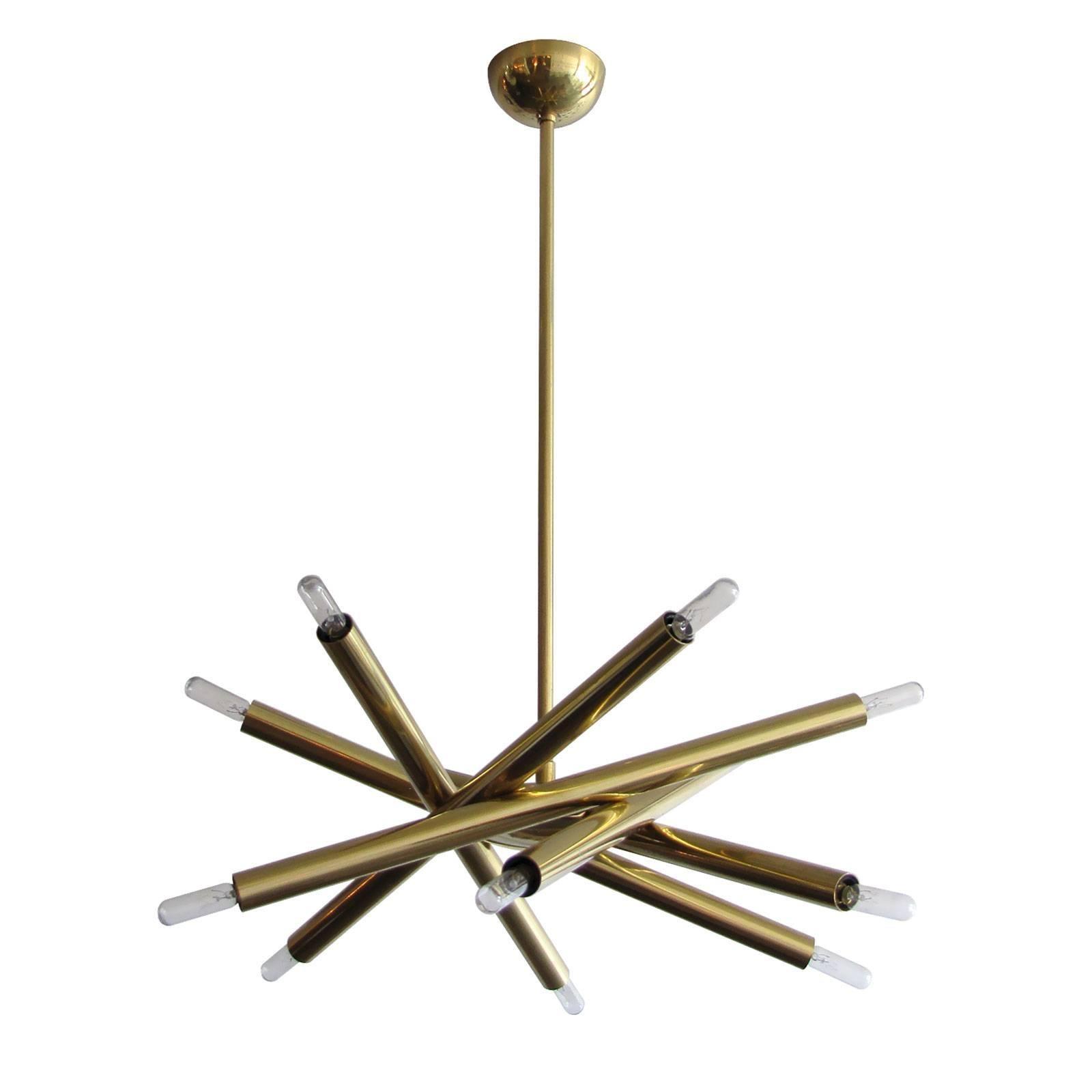 Brass Spiral SL-6 Chandelier by Gallery L7