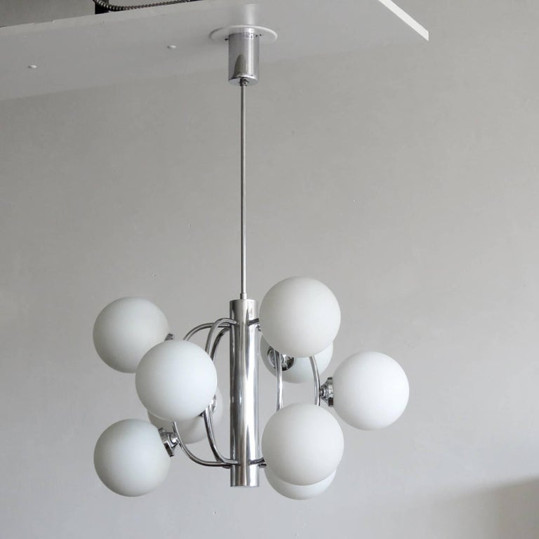 Space Age German Atomic Chandelier, 1970 For Sale