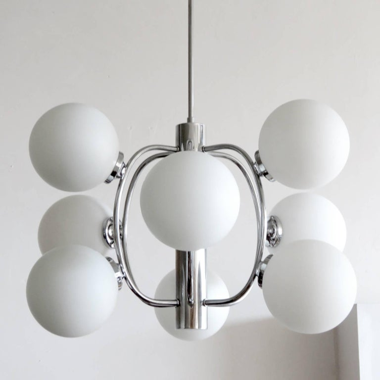 Late 20th Century German Atomic Chandelier, 1970 For Sale