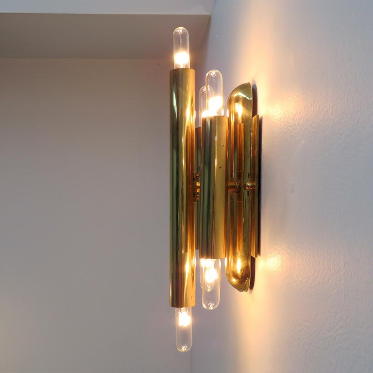 German Three-Arm Double Candle Wall Lights For Sale 3