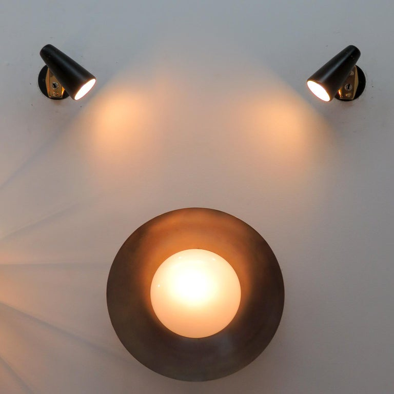 Pair of Italian Wall Lights by Stilnovo, 1950 For Sale 3