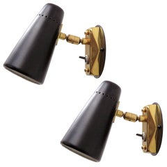 Pair of Italian Wall Lights by Stilnovo, 1950