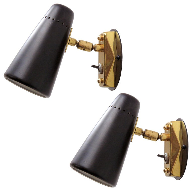 Pair of Italian Wall Lights by Stilnovo, 1950 For Sale