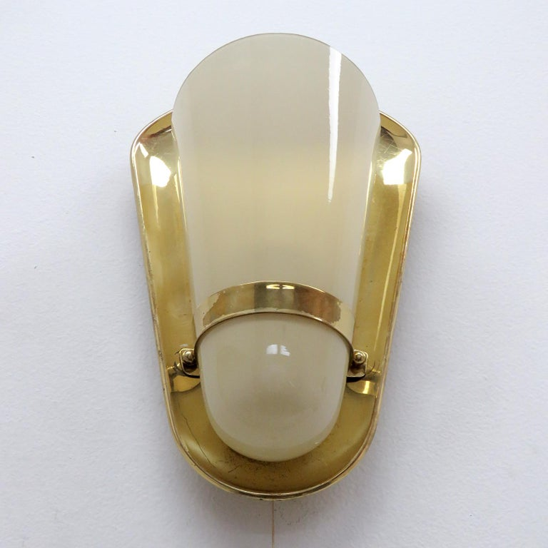 Mid-Century Modern Pair of 1950s German Wall Lights For Sale