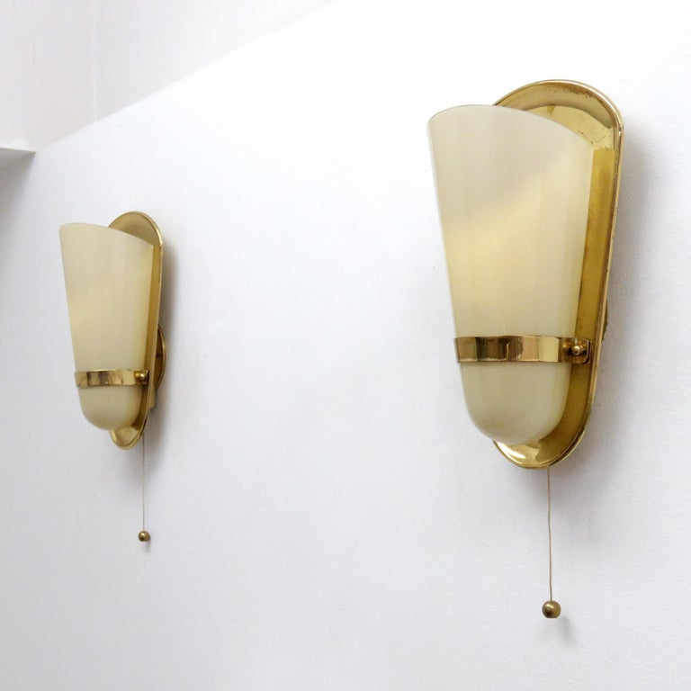Pair of 1950s German Wall Lights In Excellent Condition For Sale In Los Angeles, CA