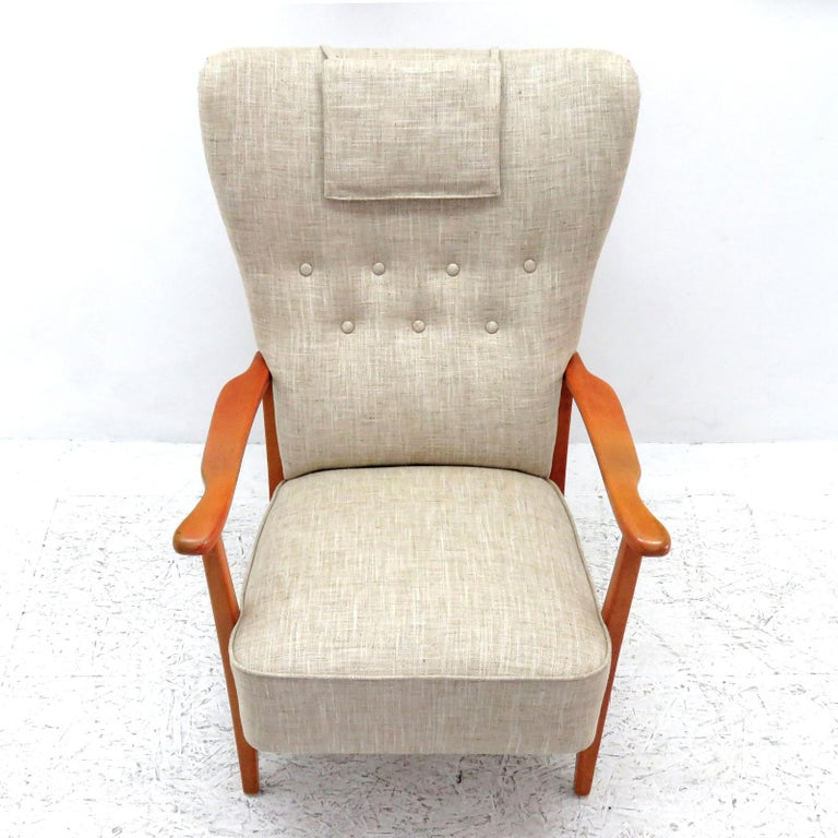 Scandinavian Modern Danish Modern High Back Chair by Dux, 1940 For Sale