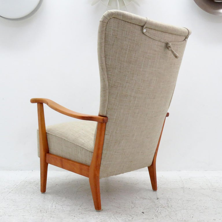 Danish Modern High Back Chair by Dux, 1940 In Excellent Condition For Sale In Los Angeles, CA