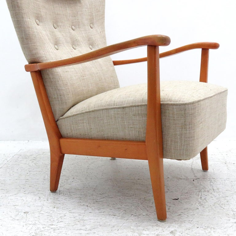 Danish Modern High Back Chair by Dux, 1940 For Sale 1