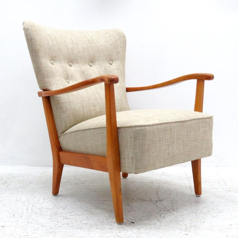 Stained Danish Modern Armchair by DUX, 1940 For Sale